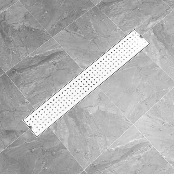 Rigolă de duș Dots, 73 x 14 cm, oțel inoxidabil