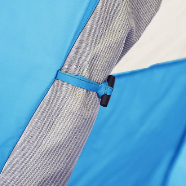 vidaXL Cort de camping stil pop-up 2-3 persoane albastru 240x210x140