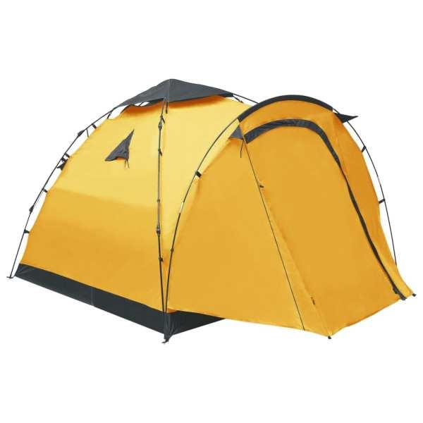 vidaXL Cort de camping tip pop-up, 3 persoane, galben