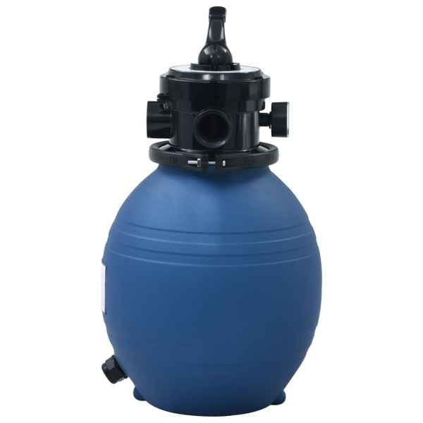 vidaXL Filtru cu nisip pentru piscină supapă 4 poziții albastru 300 mm