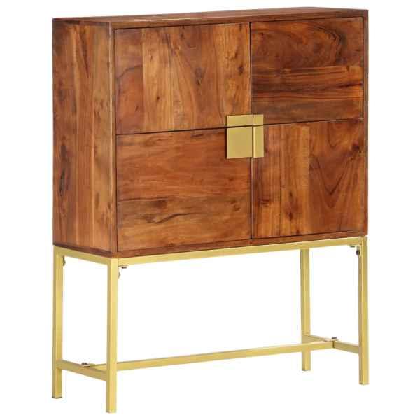 vidaXL Comodă, 80 x 30 x 100 cm, lemn masiv de acacia
