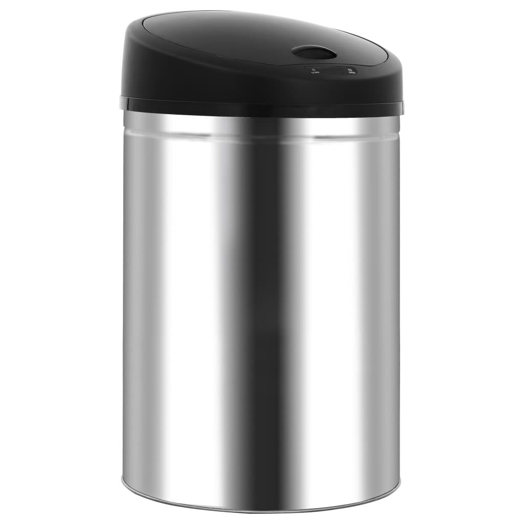 vidaXL Coș de gunoi automat cu senzor, 42 L, oțel inoxidabil