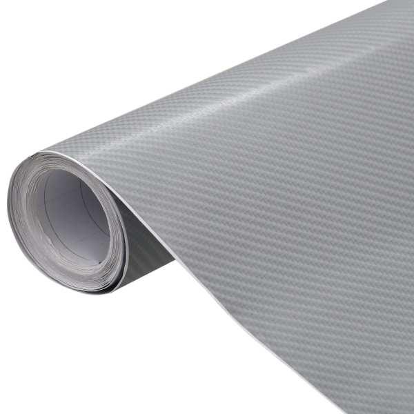 vidaXL Folie auto mașină 4D, argintiu mat, 500 x 152 cm