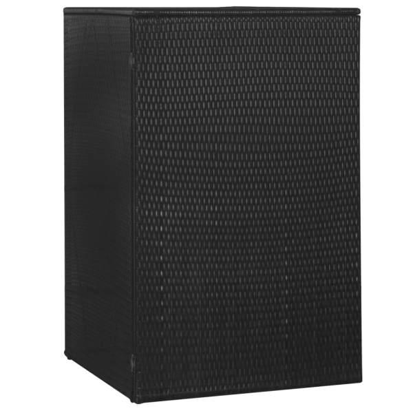 vidaXL Magazie de pubelă, negru, 76 x 78 x 120 cm, poliratan