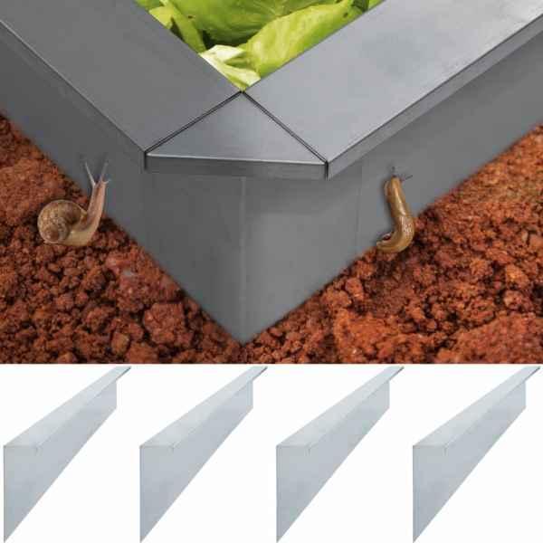 vidaXL Plăci gard anti-melci 4 buc. oțel galvanizat 150x7x25 cm 0,7 mm