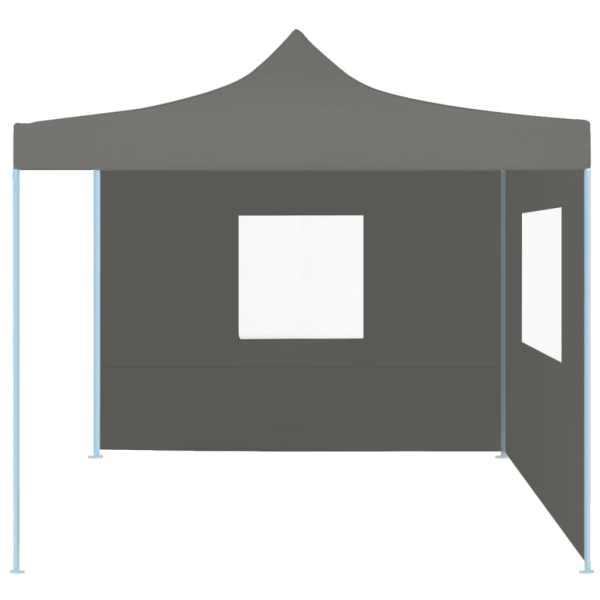 Cort de petrecere pliabil cu 2 pereți, antracit, 2 x 2 m, oțel