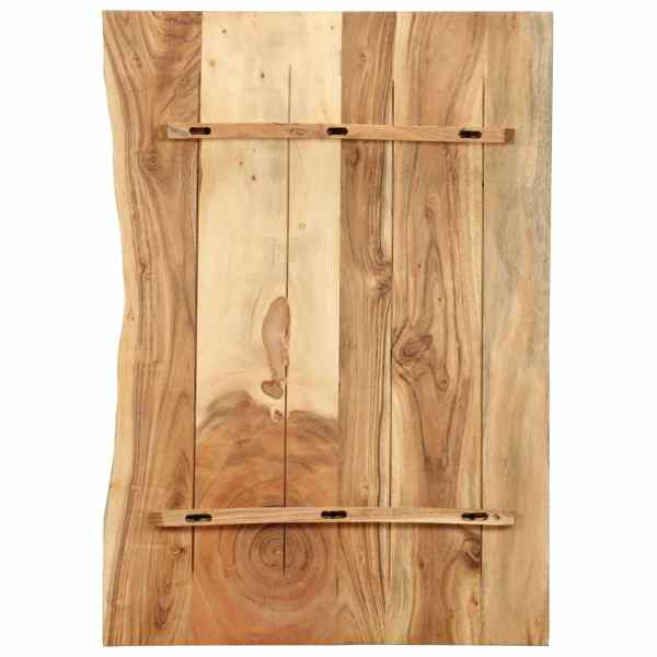 Blat lavoar de baie, 80 x 55 x 2,5 cm, lemn masiv de acacia