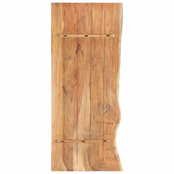 vidaXL Blat lavoar de baie, 140 x 55 x 3,8 cm, lemn masiv de acacia