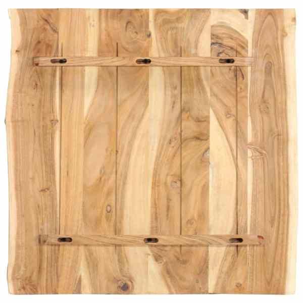 Blat de masă, 60x60x2,5 cm, lemn masiv de acacia