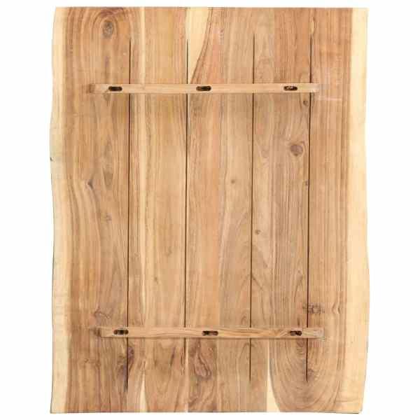 Blat de masă, 80x60x3,8 cm, lemn masiv de acacia