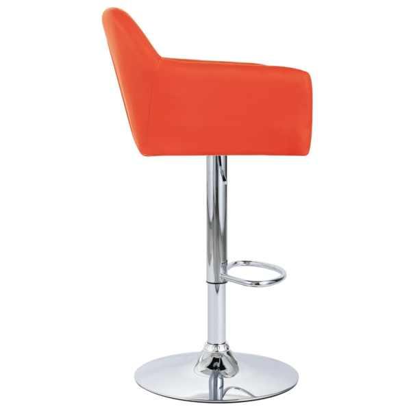 vidaXL Scaun de bar cu brațe, portocaliu, piele ecologică