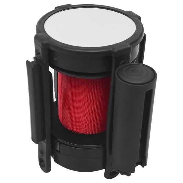 vidaXL Barieră bandă retractabilă, roșu, 200 cm
