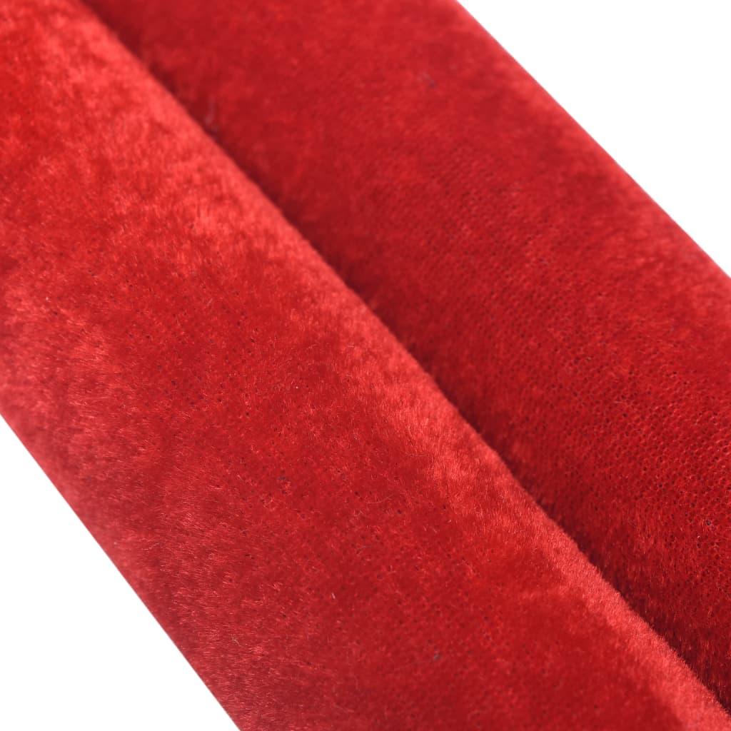 vidaXL Cordon de delimitare pentru stâlpi, roșu și argintiu, catifea