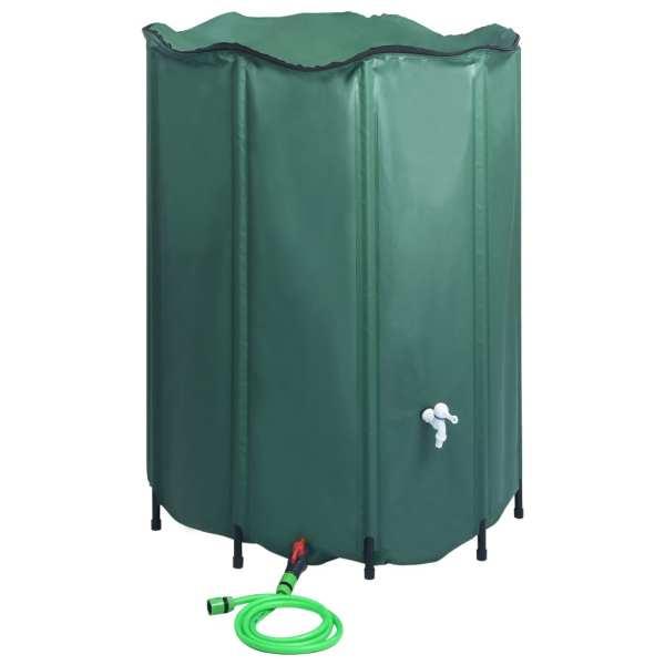vidaXL Rezervor de apă de ploaie rabatabil cu cep, 1250 L