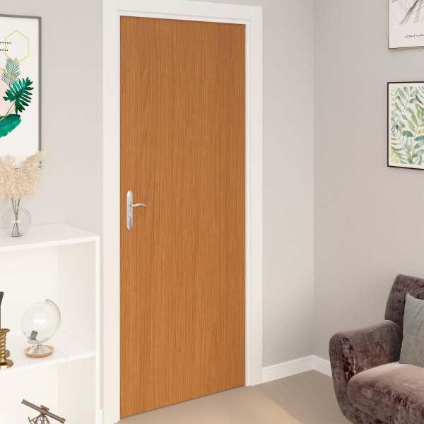 vidaXL Folii de ușă autoadezive, 2 buc, stejar deschis, 210×90 cm, PVC