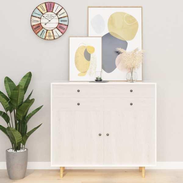 vidaXL Folie de mobilier autoadezivă, lemn alb, 500 x 90 cm, PVC
