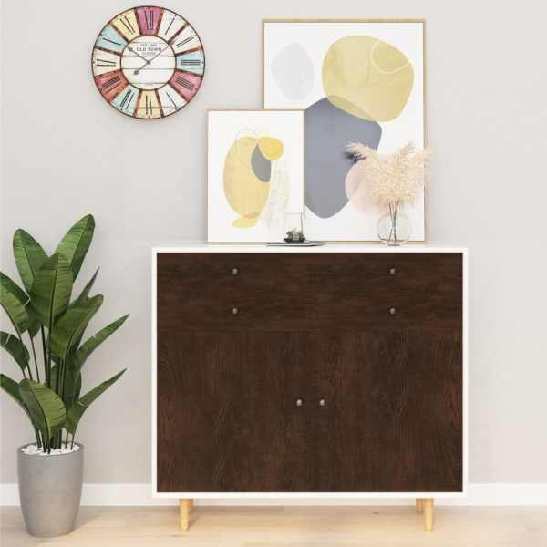 vidaXL Folie de mobilier autoadezivă, stejar închis, 500 x 90 cm, PVC