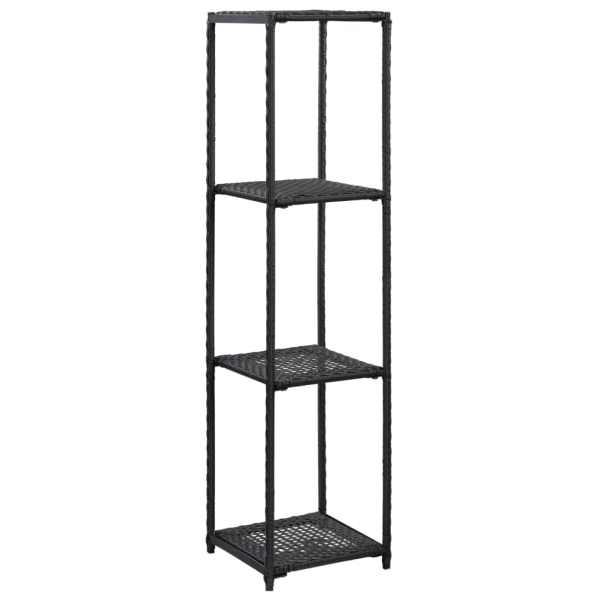 vidaXL Raft de depozitare, negru, 30 x 30 x 120 cm, poliratan