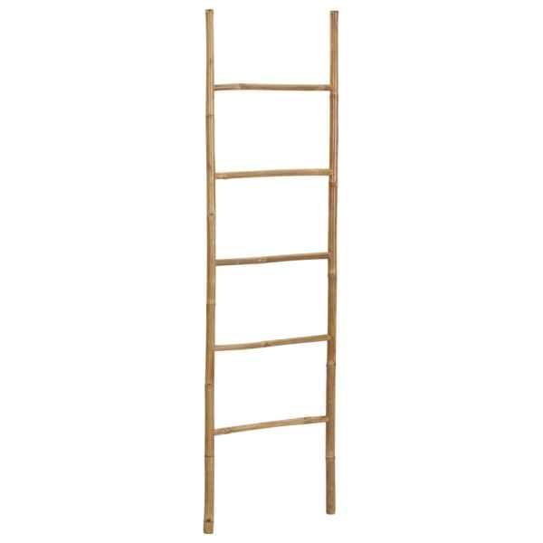 vidaXL Scară pentru prosoape cu 5 trepte, bambus, 170 cm
