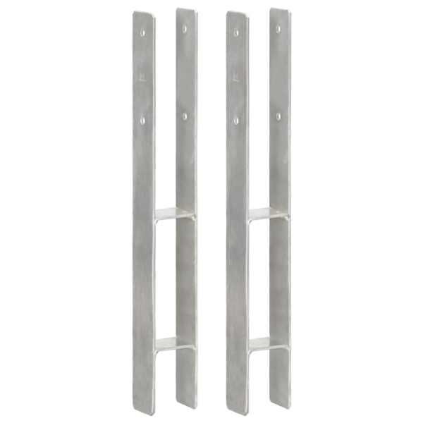 vidaXL Ancore de gard, 2 buc., argintiu, 7x6x60 cm, oțel galvanizat