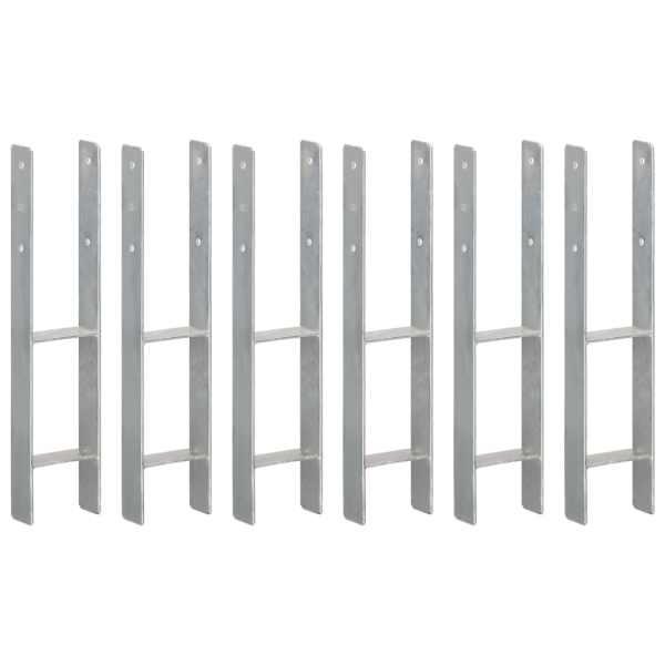 vidaXL Ancore de gard, 6 buc., argintiu, 12x6x60 cm, oțel galvanizat