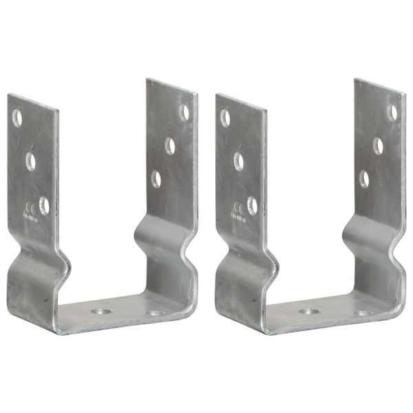 vidaXL Ancore de gard, 2 buc., argintiu, 10x6x15 cm, oțel galvanizat