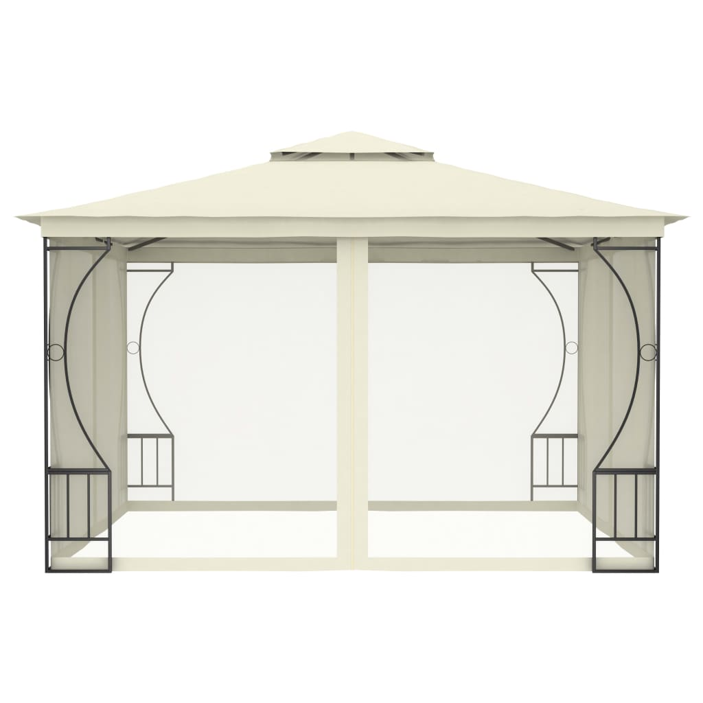 Pavilion cu perdele, crem, 300 x 300 x 265 cm