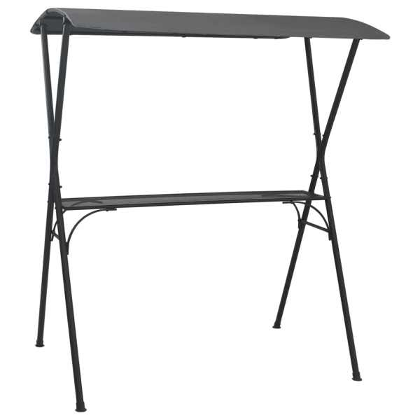 vidaXL Masă de bar cu baldachin, antracit, 175 x 150 x 207 cm, oțel