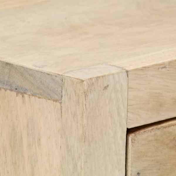 Dulap cu sertare, auriu, 45 x 30 x 105 cm, lemn masiv de mango