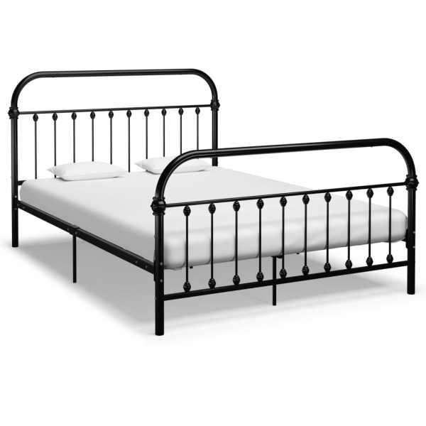 vidaXL Cadru de pat, negru, 160 x 200 cm, metal