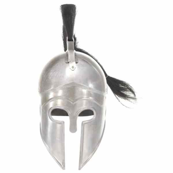 vidaXL Coif războinic grec aspect antic, joc roluri, argintiu, oțel