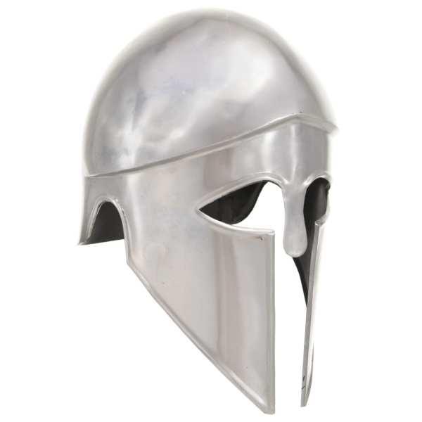 vidaXL Coif războinic grec aspect antichizat joc de rol argintiu oțel