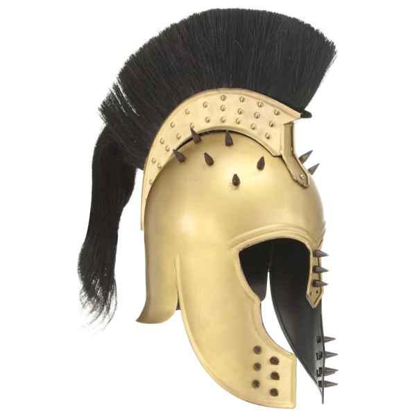 vidaXL Coif războinic grec aspect antic, jocuri pe roluri, alamă, oțel