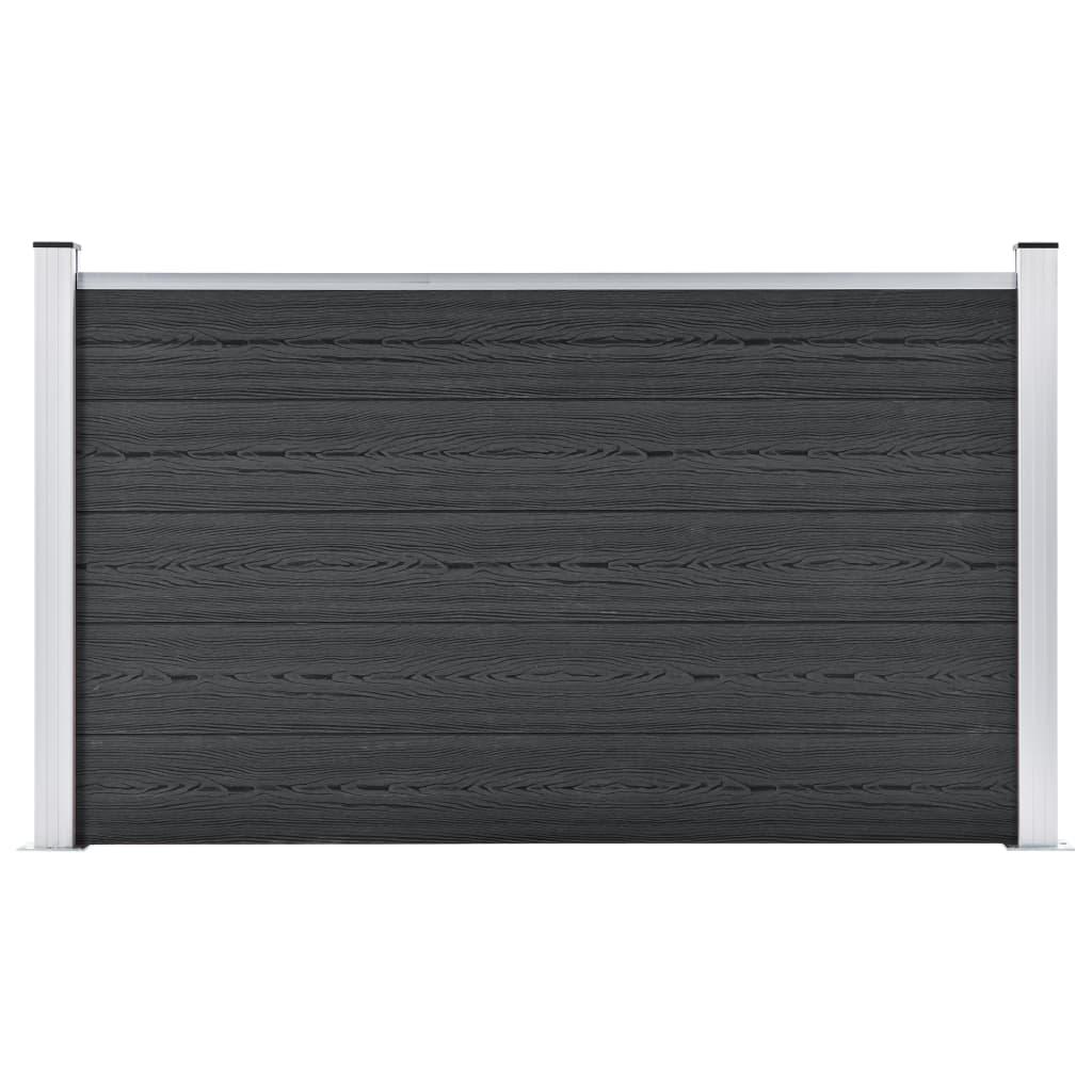vidaXL Gard de grădină, gri, 180 x 105 cm, WPC