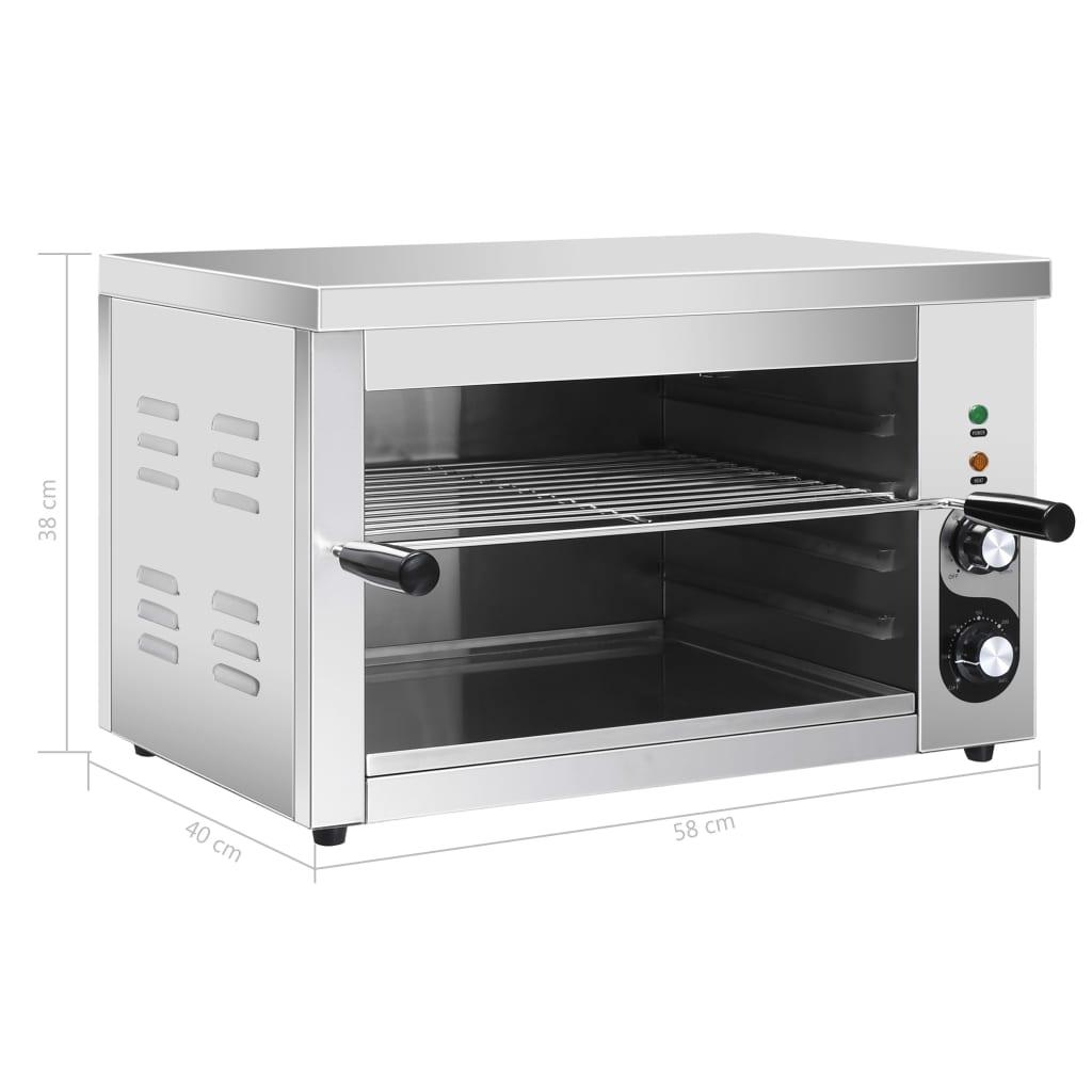 vidaXL Grătar Salamander electric Gastronorm, 3000 W, oțel inoxidabil