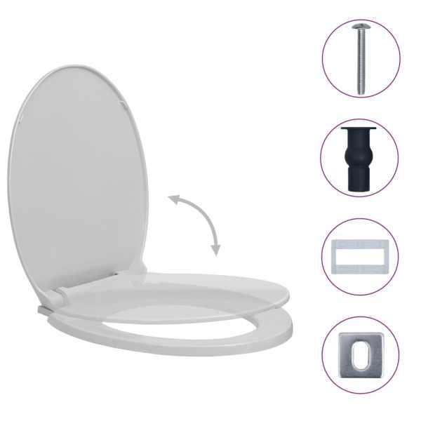 Capac WC închidere silențioasă eliberare rapidă gri  deschis