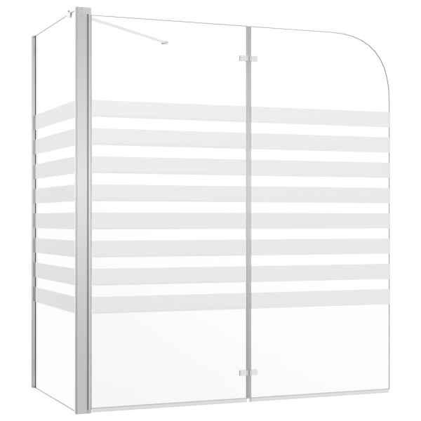 vidaXL Cabină de baie, 120 x 68 x 130 cm, benzi din sticlă securizată