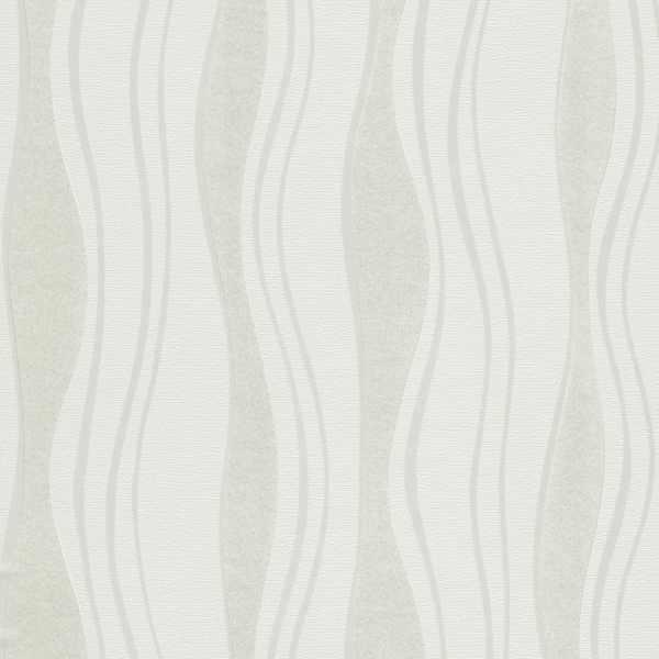 Role de tapet nețesut, 4 buc., alb, 0,53 x 10 m, valuri