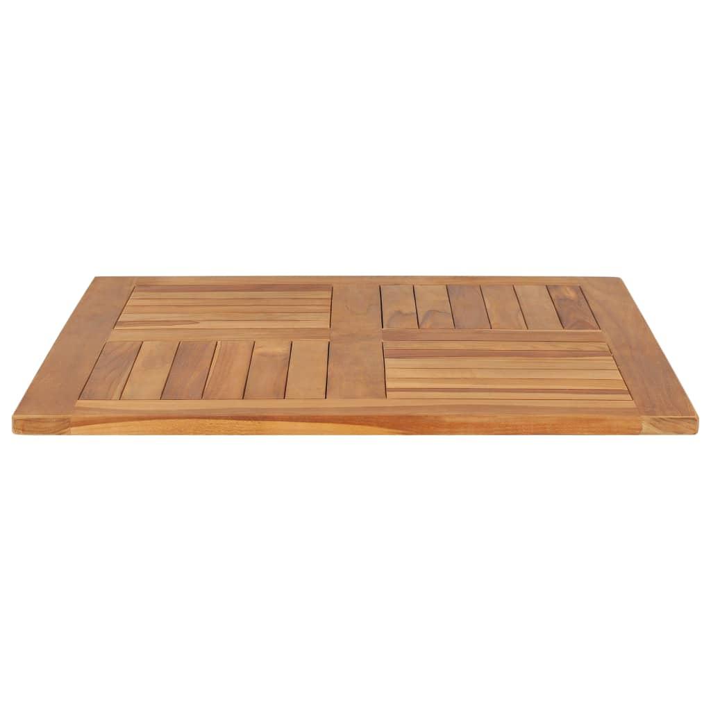 vidaXL Blat de masă pătrat, 80 x 80 x 2,5 cm, lemn masiv de tec