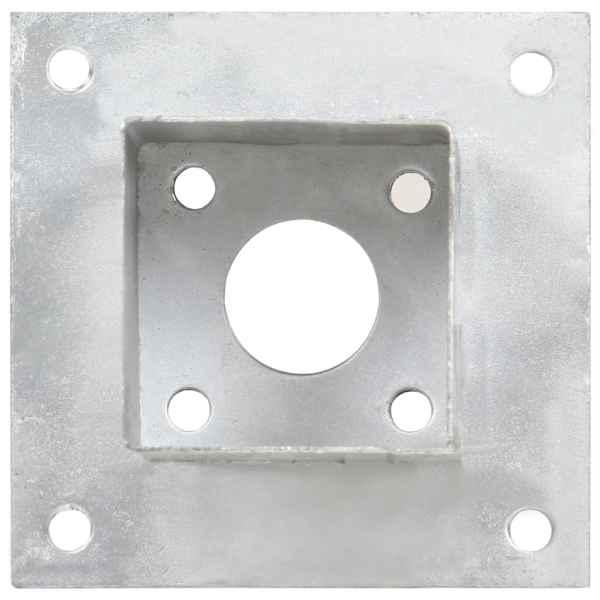vidaXL Suporți stâlp, 4 buc., metal galvanizat, 71 mm