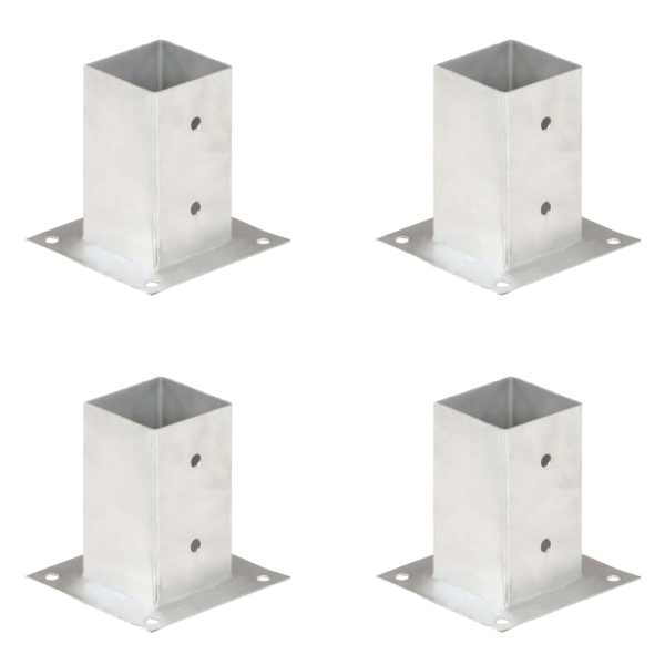 vidaXL Suporți stâlp, 4 buc., metal galvanizat, 81 mm