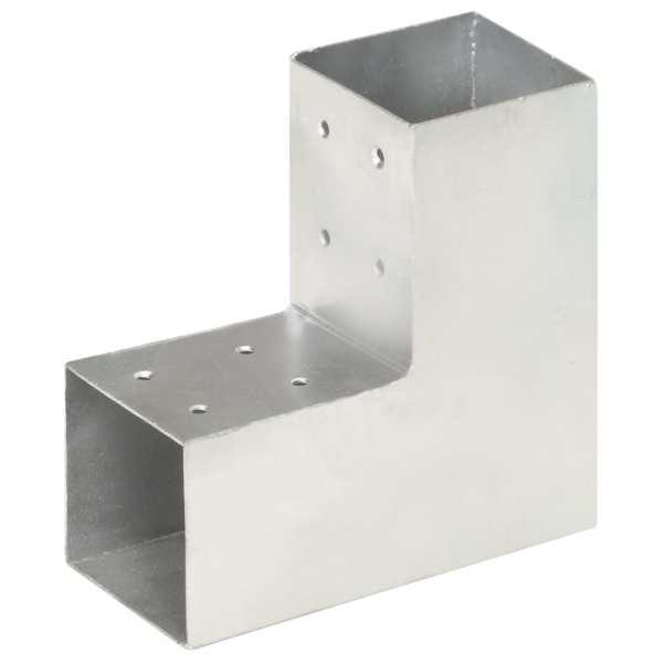 vidaXL Conector de grindă, formă L, 81 x 81 mm, metal galvanizat