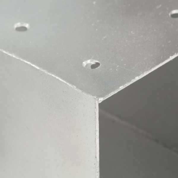 vidaXL Conector de grindă, formă Y, 81 x 81 mm, metal galvanizat
