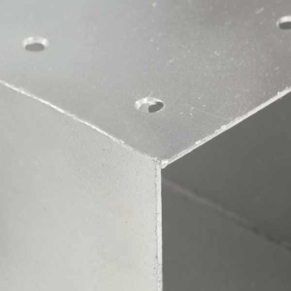 Conector de grindă, formă X, 81 x 81 mm, metal galvanizat