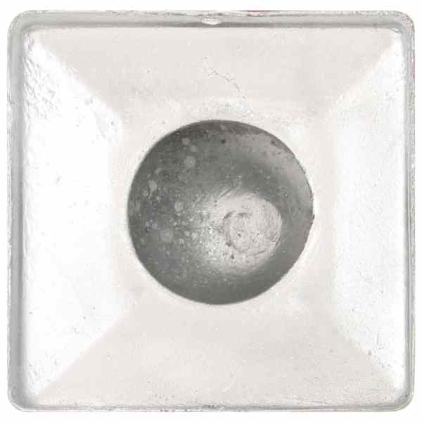 vidaXL Capace stâlpi tip glob, 6 buc., 81 x 81 mm, metal galvanizat