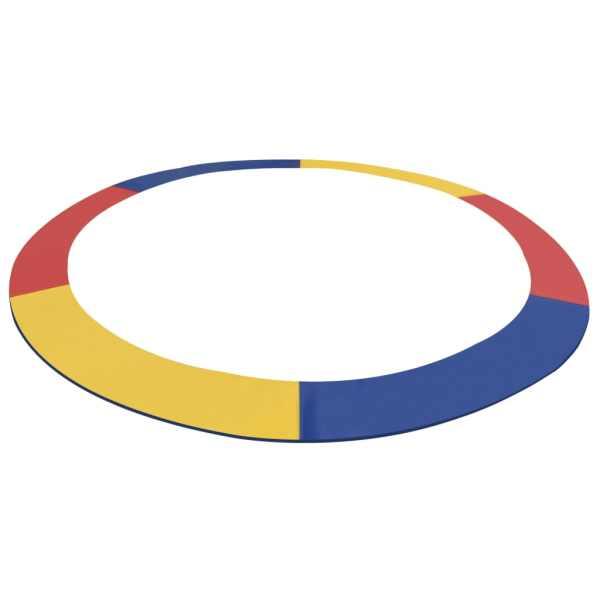 vidaXL Bandă de siguranță trambulină rotundă de 3,66 m multicolor PVC