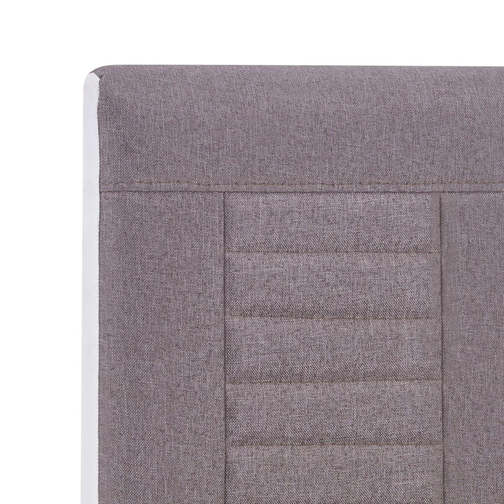 Scaune de bucătărie consolă, 6 buc, gri taupe, material textil