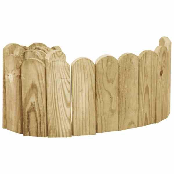 vidaXL Rolă de bordură, verde, 120 cm, lemn de pin tratat