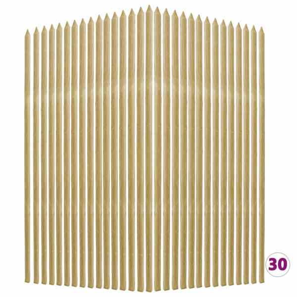vidaXL Araci pentru plante, 30 buc., 2,8 x 2,8 x 150 cm, pin tratat