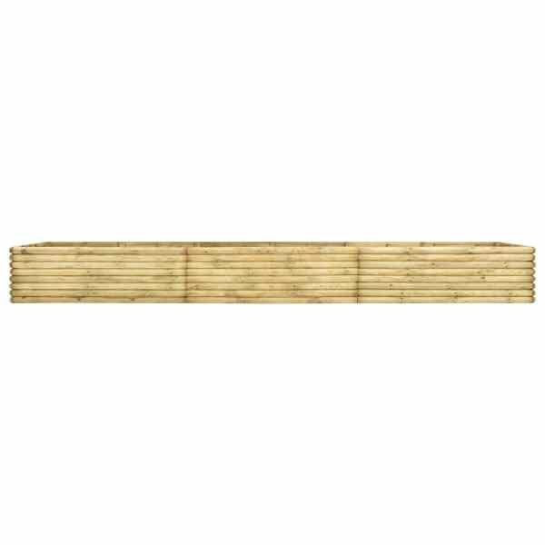 vidaXL Strat înălțat de grădină, 450x100x48 cm, lemn pin tratat, 19 mm